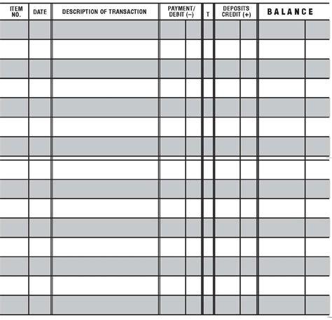 easy  read checkbook transaction register large print