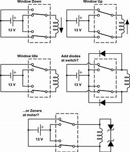 Automotive - Can I Add Flyback Diodes To My Car Window Motors