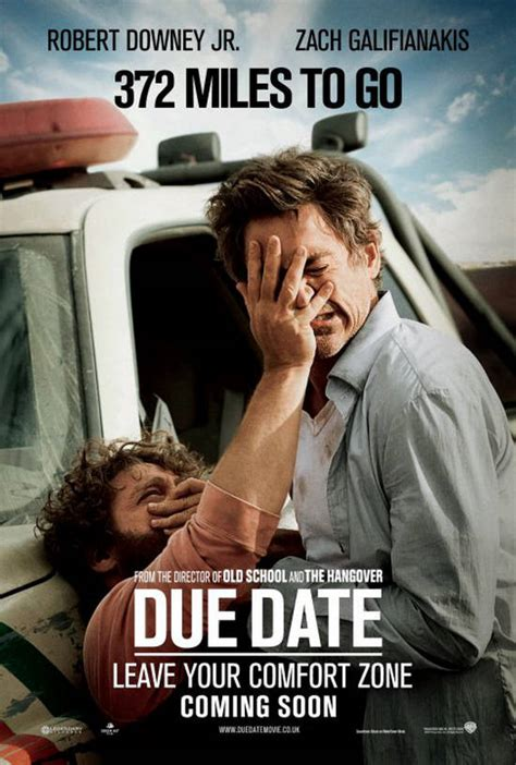 due date  posters  trailer colored  comedy