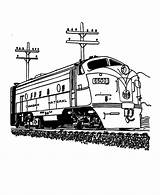 Train Coloring Trains Railroad Canadian Amtrak Printable Freight Wagon 4fed Adults National Transports Colouring Diesel Sheets Engine Drawings Looking sketch template