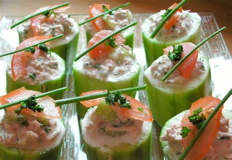 cuisine grecque tours de concombre au saumon ou au thon une entrée légère