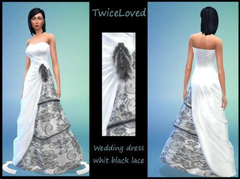 Linalj's White Weddingdress Whit Black Lace