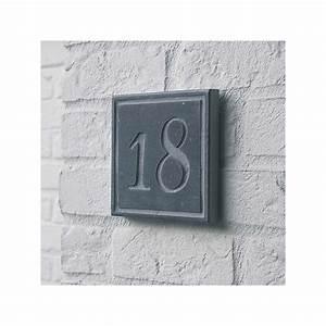 Plaque Numero De Rue : plaque carr e num ro de rue en pierre naturelle square 3 ~ Melissatoandfro.com Idées de Décoration