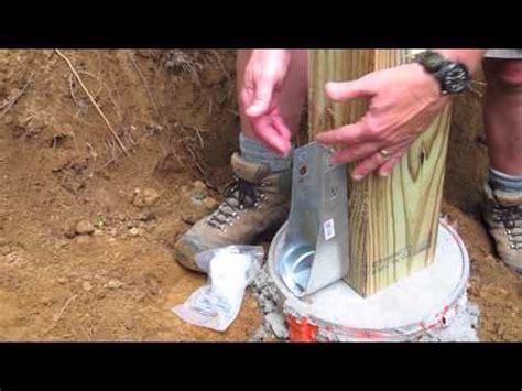 diy shed askthebuilder   install  wood post hold