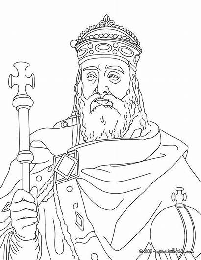 Coloring Pages Charlemagne Cycle Cc History King