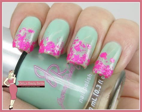 Fakin Cherry Blossoms Nail Art With Glitter  Ee  Lazy Ee    Ee  Betty Ee