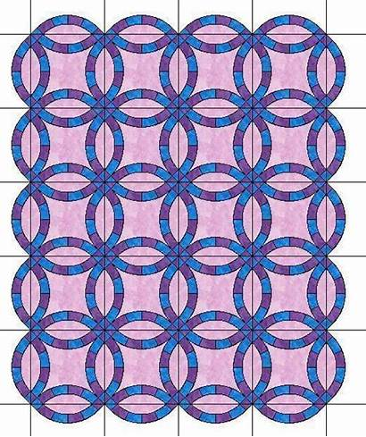Quilt Ring Double Pattern Template Scalloped Patterns