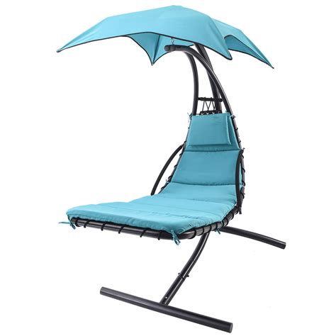 hanging chaise lounge chair umbrella patio furniture