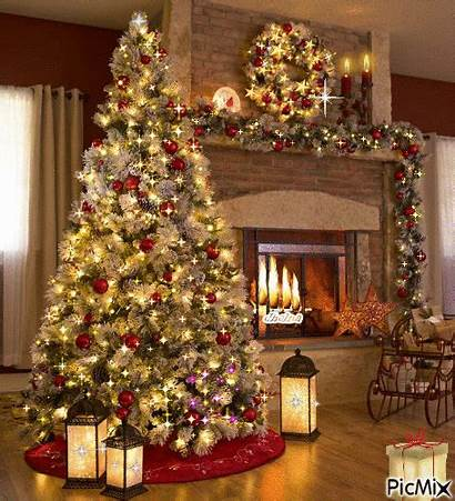 Christmas Tree Gifs Merry Decorations Living Happy