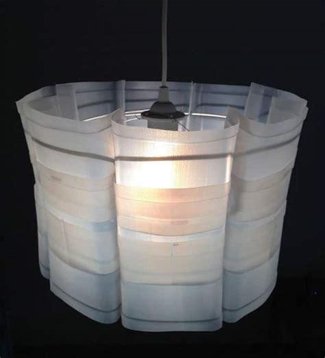 upcycled plastic milk carton milkflower lampshade recyclart