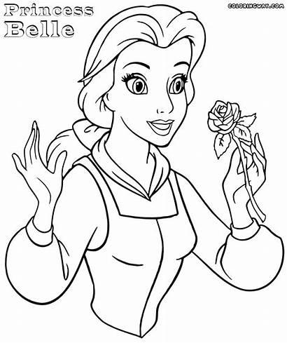 Belle Coloring Princess Pages