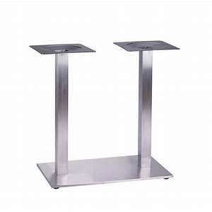 Pied De Table : pied double tetra inox pieds de table mobilier terrasse ~ Teatrodelosmanantiales.com Idées de Décoration