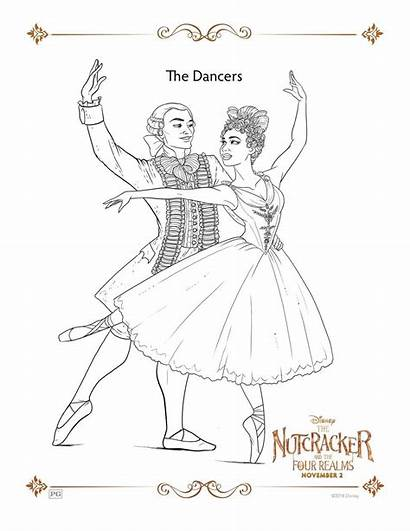 Coloring Nutcracker Realms Pages Four Sheets Activity