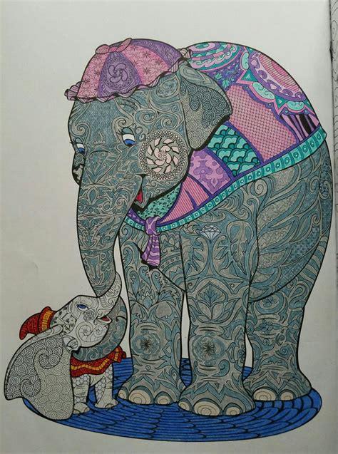 art  coloring disney animals jumbo dumbo finished