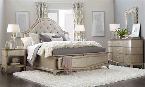 art starlite glam upholstered queen storage bedroom