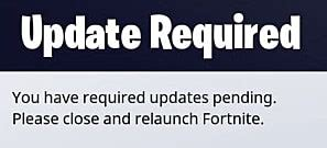 fortnite mobile   update  relaunch fortnite