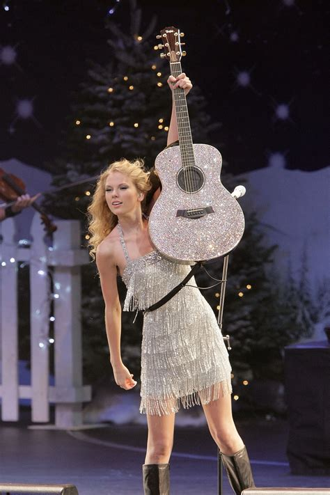 Taylor Swift Silver Sparkly Guitar