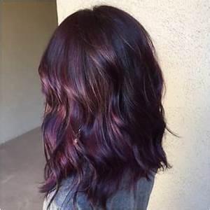 plum purple highlights hair - Google Search | Fun ...
