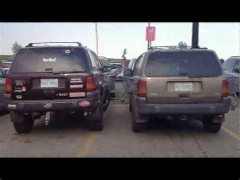 stock jeep vs lifted 1997 jeep zedjay 3 5 lift and 31 39 s vs stock zj youtube