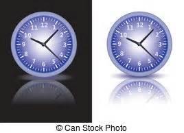 horloge sur bureau vieux horloge bureau sur isolé arrière plan anglaise