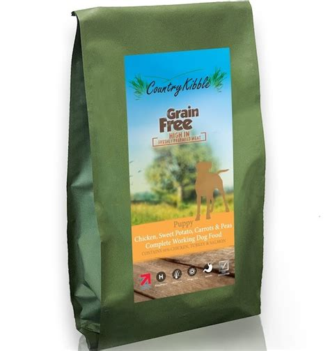 country kibble grain  puppy food chicken sweet potato