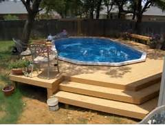 Swimming Pool Ideas With Deck Deck Like This Makes An Above Ground Pool Feel Like An Inground Pool