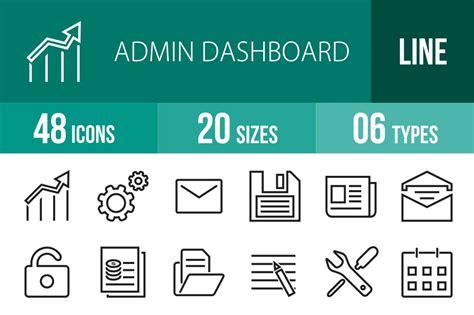 48 Admin Dashboard Line Icons