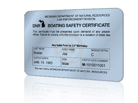 Temporary Boating License In Nh by Get Your Michigan Boating License Boaterexam 174