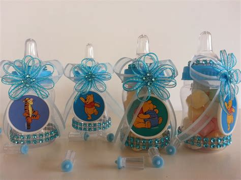 Winnie The Pooh Decoration Ideas - 12 winnie the pooh fillable bottles baby shower favors