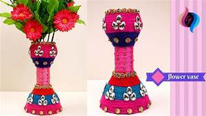 DIY - Flower vase made with recycled plastic bottle - How ...