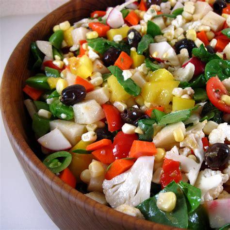 recipes for chopped chopped vegetable salad with lemon garlic dressing recipe dishmaps