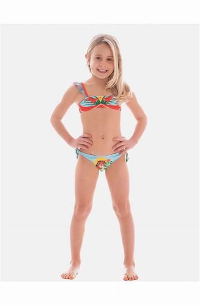 Bikini Bandeau Swimsuits Kid Rouches Jungle Stars