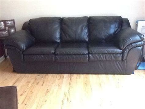 Where To Buy Leather Sofa by Black Leather Sofas Loveseats Chaises Ebay