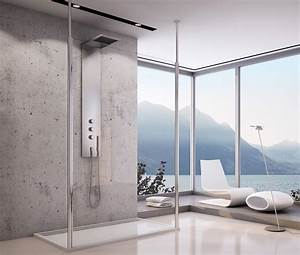 Duschwand Badewanne 160 : freistehende glastrennwand 160 x 200 cm glaswand dusche ~ Lizthompson.info Haus und Dekorationen