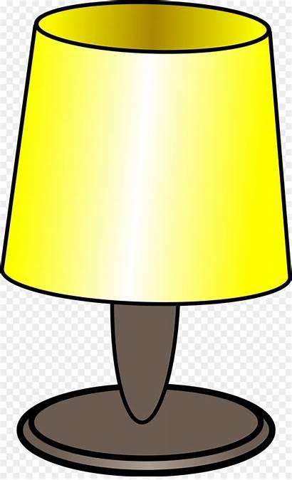 Clipart Cartoon Lamp Bulb Yellow Webstockreview