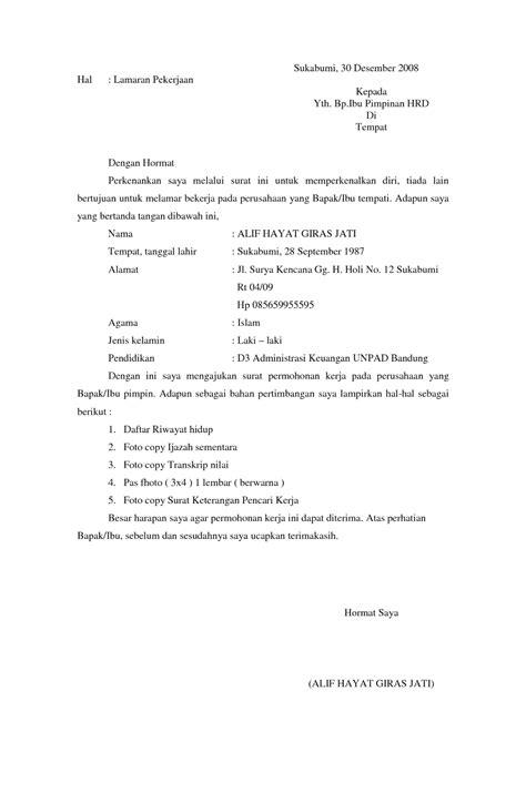 10 surat lamaran kerja formal ben