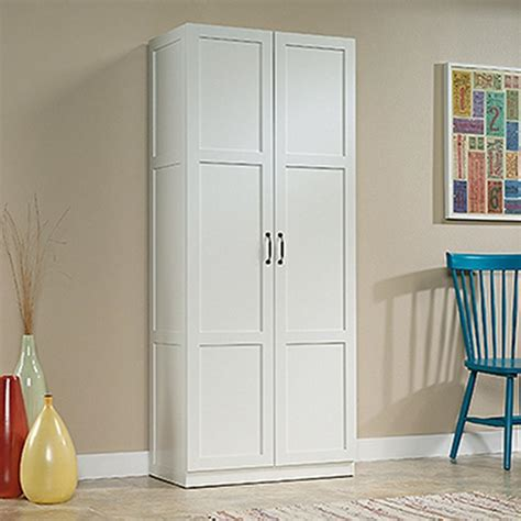 sauder woodworking white cabinet   home depot