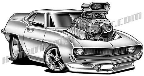 royalty   camaro cartoon art muscle cars