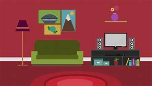 Cartoon Modern Colorful Living Room Stock Footage Video ...