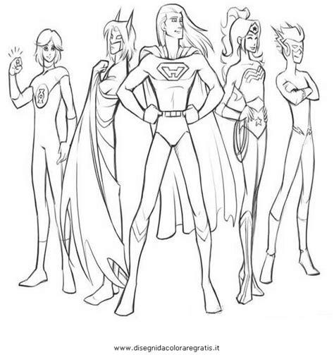 disegni da colorare della justice league disegno justice league 20 personaggio cartone animato da