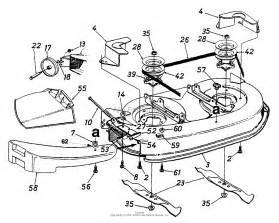 mtd 13af660g352 1999 parts diagram for deck assembly quot g quot