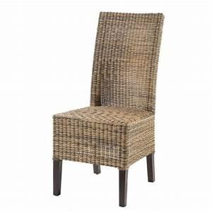 Chaise En Rotin : chaise en rotin tress chaise en osier tress chaise en rotin naturel rotin design ~ Preciouscoupons.com Idées de Décoration