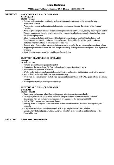 Operator Resume by Furnace Operator Resume Sles Velvet