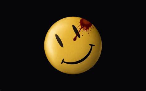 wallpaper illustration yellow circle smiley watchmen