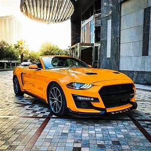 Rent Ford Mustang Convertible EcoBoost 2019 car in Dubai: Day, monthly rental