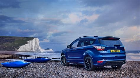 ford kuga blue color rear profile hd  wallpaper