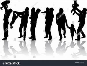 Family Silhouette Stock Vector 183262535 - Shutterstock