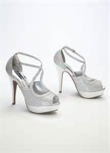 bridesmaid shoes silver silver bridesmaid shoes with peep toe ipunya