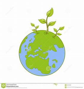 Vector Earth And Green Plant Stock Vector - Image: 39439583