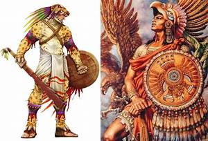 Fearsome Aztec Eagle Warriors And Jaguar Warriors Of ...
